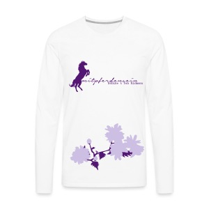 RU Font, Bundle of Flowers, Men Longsleeve for Women ( Print: Lavendel , Violet) - Männer Premium Langarmshirt