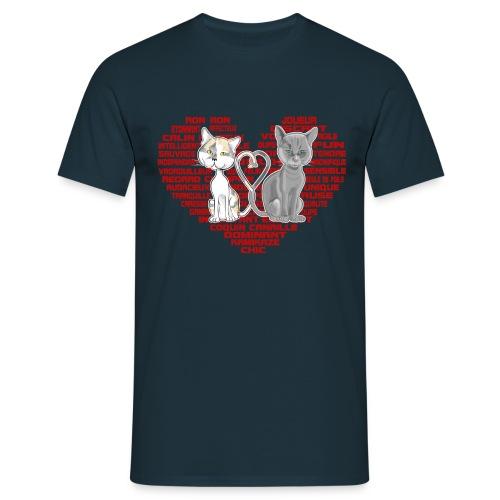 Cœur de chat (rouge) - T-shirt Homme
