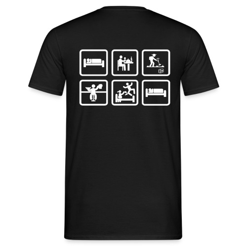 eat sleep detect - T-shirt Homme
