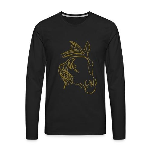 Dreamhorse, Men Longsleeve for Women ( Print: Gold Glitter) - Männer Premium Langarmshirt