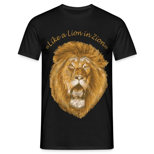 like a lion in zion/ - T-shirt Homme
