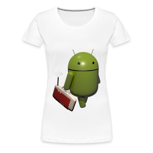 Android Shirt Girl - Frauen Premium T-Shirt