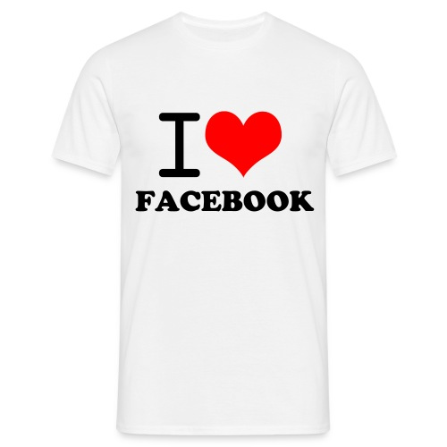 T-Shirt homme I LOVE FACEBOOK - T-shirt Homme