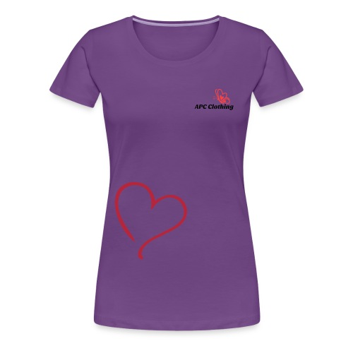 Girls Top Heart Purple - Women's Premium T-Shirt