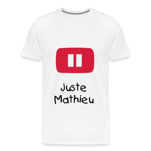 T-SHIRT YOUTUBE - JUSTE MATHIEU - T-shirt Premium Homme