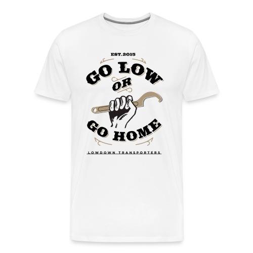 'Go Low' Premium Front Print White LDT T - Men's Premium T-Shirt