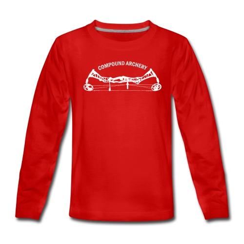 Teenager Premium Langarmshirt - Compound Archery - Teenager Premium Langarmshirt