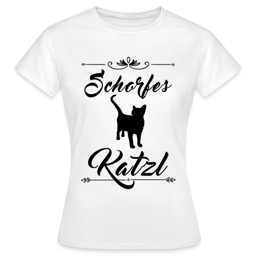 Schorfes Katzl   Frauen Tshirt - Frauen T-Shirt