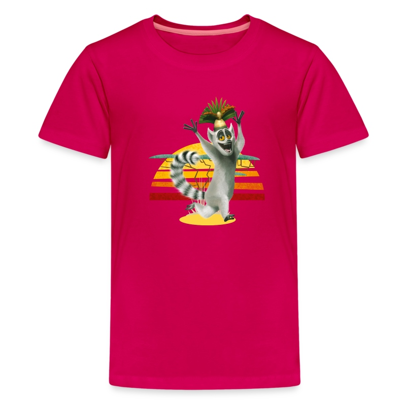 Madagascar King Julien Teenager T-Shirt - Teenage Premium T-Shirt