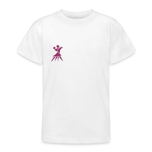 Mädchenshirt Glitzerlogo - Teenager T-Shirt