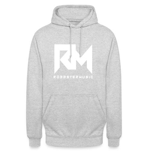 RobbsterMusic / White Logo - Unisex Hoodie