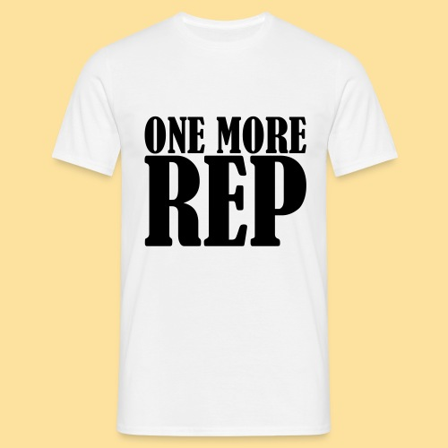 One more Rep - Männer T-Shirt