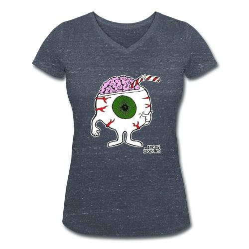 Ernie Eyeball - Women's Organic V-Neck T-Shirt by Stanley & Stella
