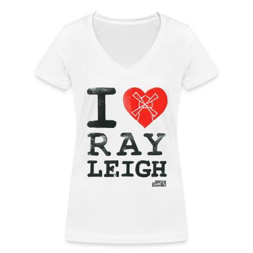 I Love Rayleigh - Women's Organic V-Neck T-Shirt by Stanley & Stella