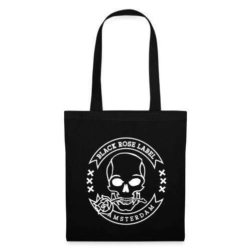 Black Rose Tote Bag - Tas van stof