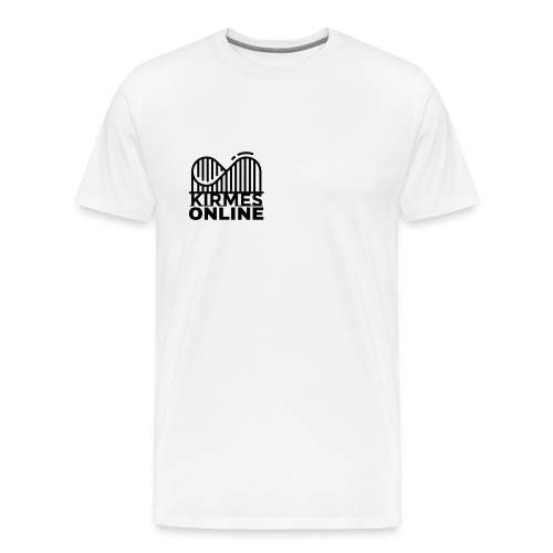 KirmesOnline Shirt mit Logo weiß - Männer Premium T-Shirt