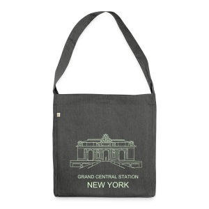 Grand Central Station New York - Schultertasche aus Recycling-Material