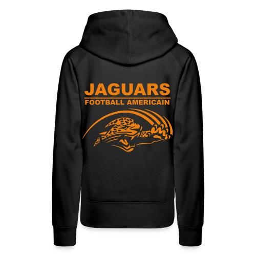 Sweat noir femme logo des Jaguars - non personnalisable - Sweat-shirt à capuche Premium pour femmes