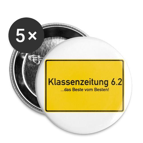 5 Buttons groß- 56 mm (Design 1) - Buttons groß 56 mm