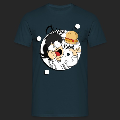 The Mighty Chicken Burger  - Men's T-Shirt