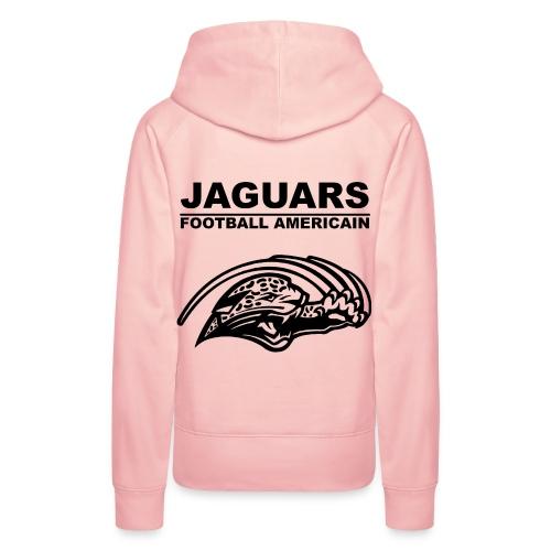 Sweat rose femme logo des Jaguars - non personnalisable - Sweat-shirt à capuche Premium pour femmes