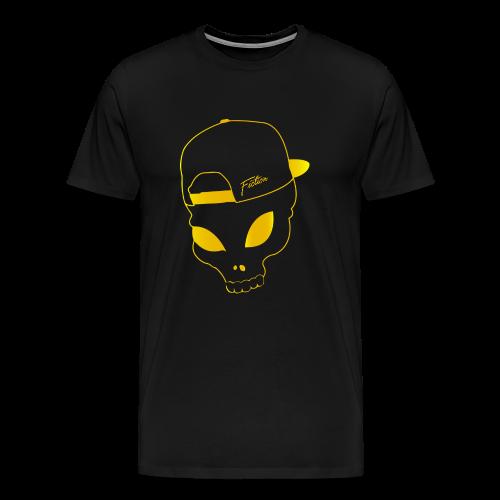 Fiction skull Tshirt (Gold logo) Mens - Men's Premium T-Shirt