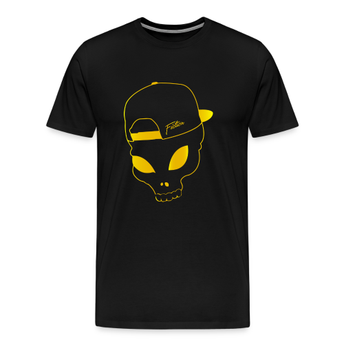 Fiction skull Tshirt (Gold logo) Mens - Men's Premium T-Shirt