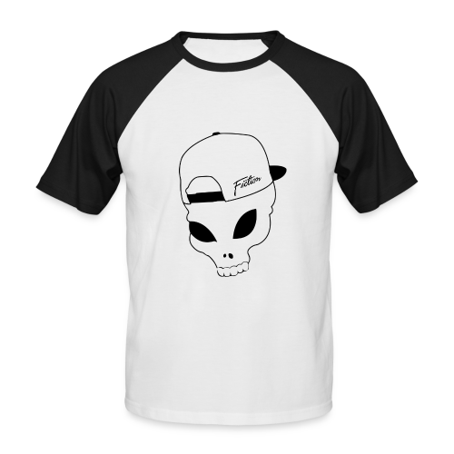 Fiction Skull Baseball Tee (Black logo) Mens - Men's Baseball T-Shirt