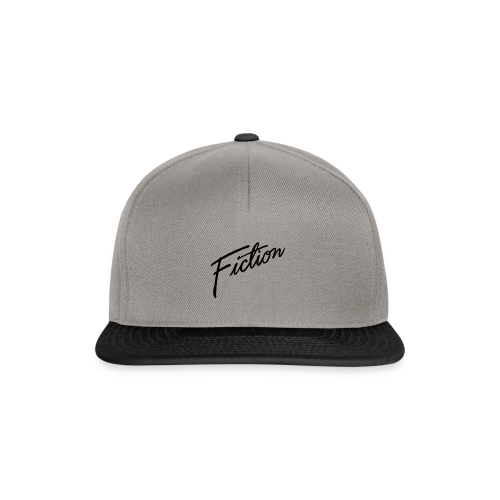 Fiction Logo Snapback (Black logo) - Snapback Cap