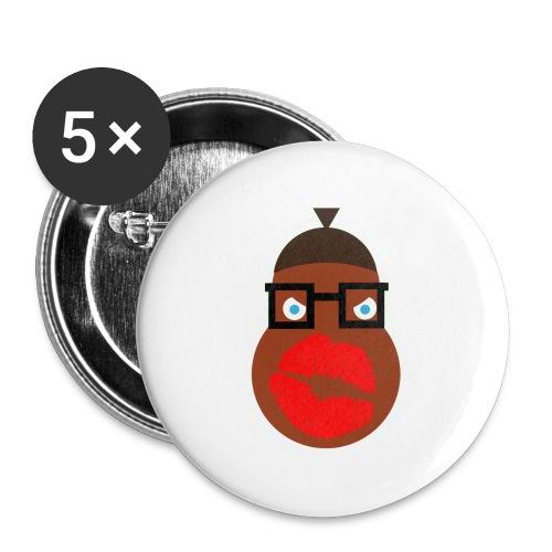 Buttons klein 25mm - Buttons klein 25 mm (5er Pack)