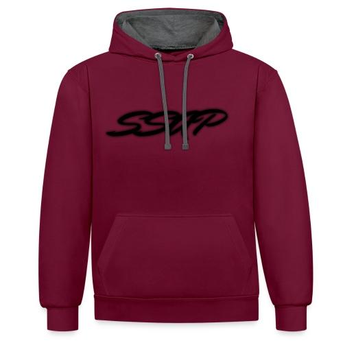 Ssap Sweat-Shirt Bordeaux Homme/Femme - Sweat-shirt contraste