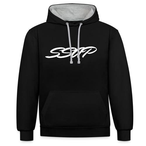 Ssap Sweat-Shirt Noir Homme/Femme - Sweat-shirt contraste