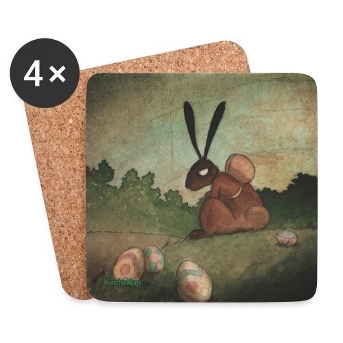 MonsterMug Coaster 002 - Easter Bunny - Untersetzer (4er-Set)