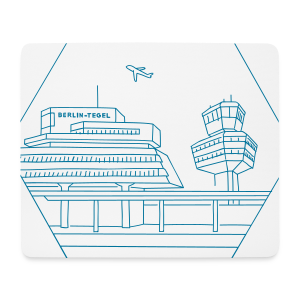 Flughafen Tegel in Berlin - Mousepad (Querformat)