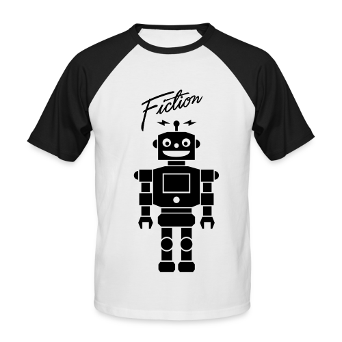 Fiction Robot Baseball Tshirt Design Mens - Men's Baseball T-Shirt