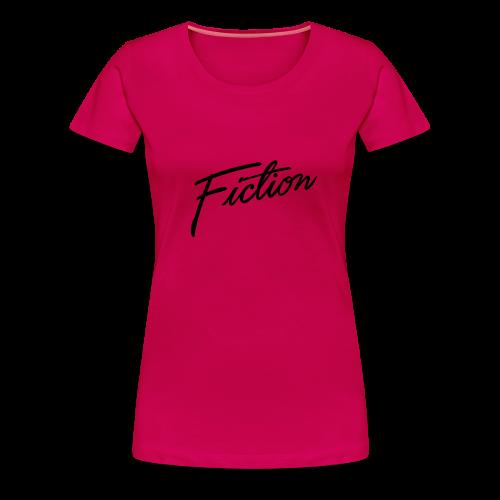 Fiction logo tshirt design (Black Logo) Womens - Women's Premium T-Shirt
