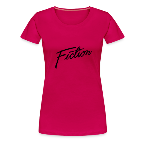 Fiction logo tshirt design (Black Logo) Womens - Women's Premium T-Shirt