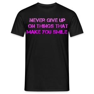 T-shirt Never Give Up - Mannen T-shirt