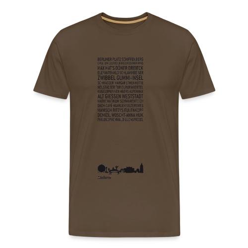 Gießen kompakt - Männer Premium T-Shirt