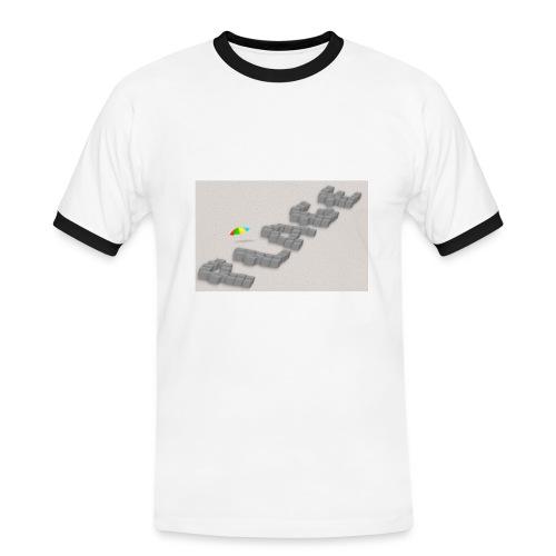 T-shirt sous les pavés la plage - T-shirt contrasté Homme