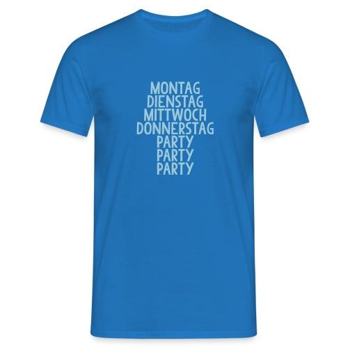 Wochentage - Männer T-Shirt