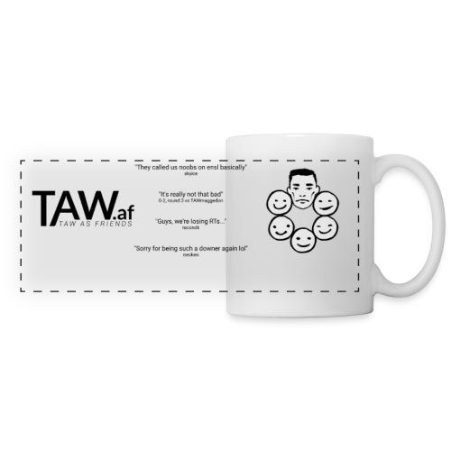 TAW.af Mug Logo & Quotes & Faces Black/White - Panoramic Mug