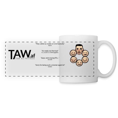 TAW.af Mug Logo & Quotes & Faces Color - Panoramic Mug