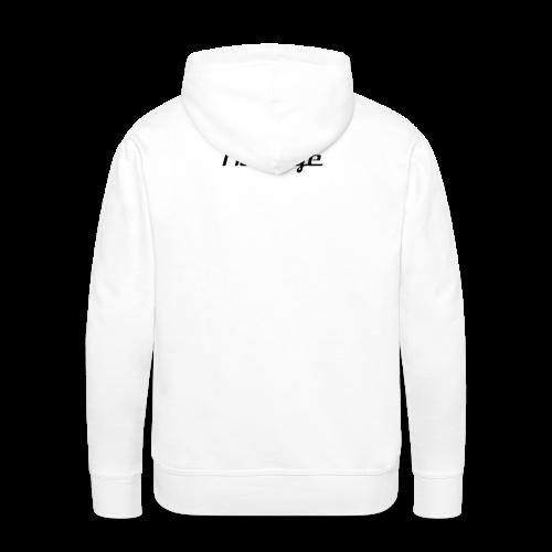 Hoodie Black logo - Men's Premium Hoodie