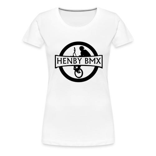 Plain Women's T-Shirt (Official HenbyBMX Logo) - Women's Premium T-Shirt