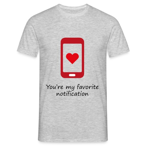 Notification love - T-shirt Homme
