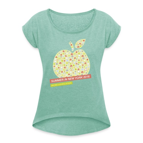 Frauen Shirt - Women's T-Shirt with rolled up sleeves
