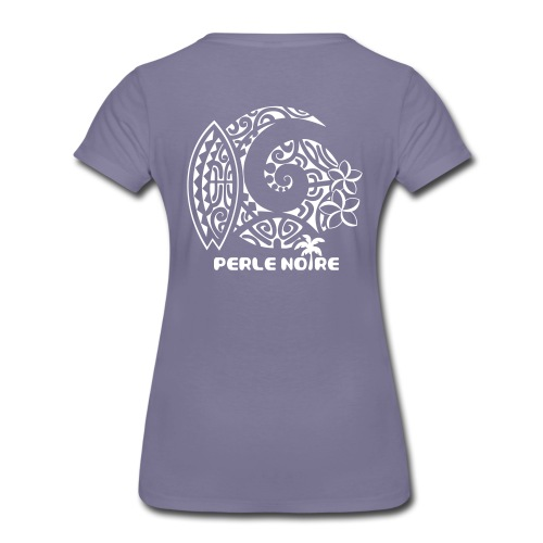 T-Shirt Femme lavande - Perle Noire  - T-shirt Premium Femme