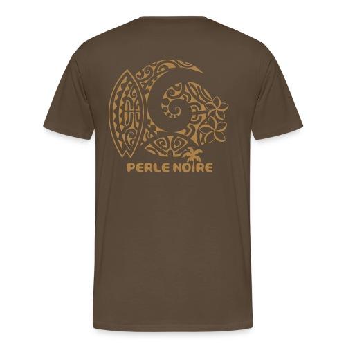 T-Shirt Homme marron - Perle Noire  - T-shirt Premium Homme