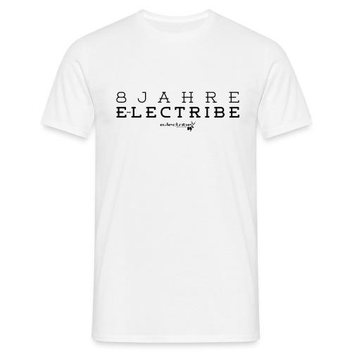 8 Jahre e-lectribe – Print black - Männer T-Shirt